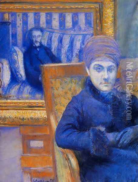 Portrait Of Madame X Oil Painting - Gustave Caillebotte