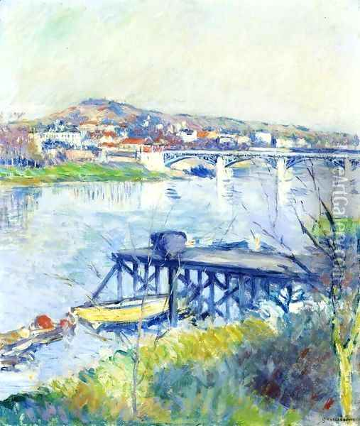 The Bridge At Argenteui Oil Painting - Gustave Caillebotte