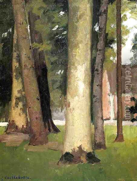 Yerres Through The Grove The Ornamental Farm Oil Painting - Gustave Caillebotte