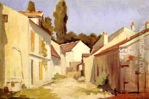 Yerres Close Of The Abbesses Oil Painting - Gustave Caillebotte