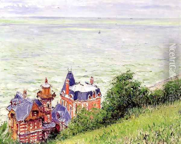 Villas At Trouville Oil Painting - Gustave Caillebotte