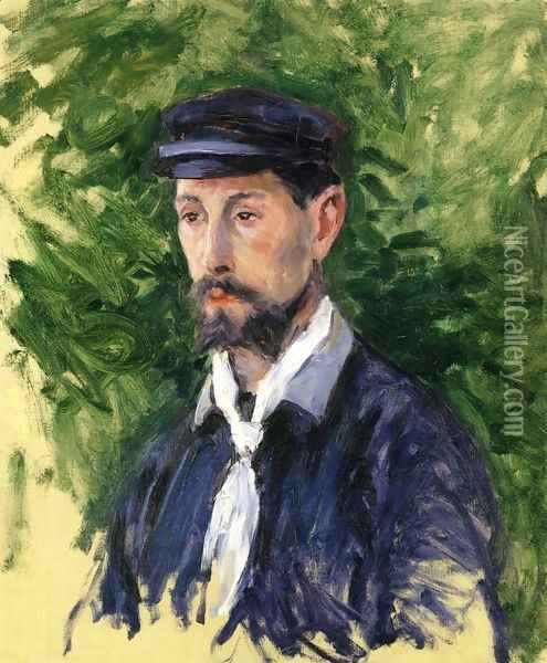 Bust Portrait of Eugene Lamy Oil Painting - Gustave Caillebotte