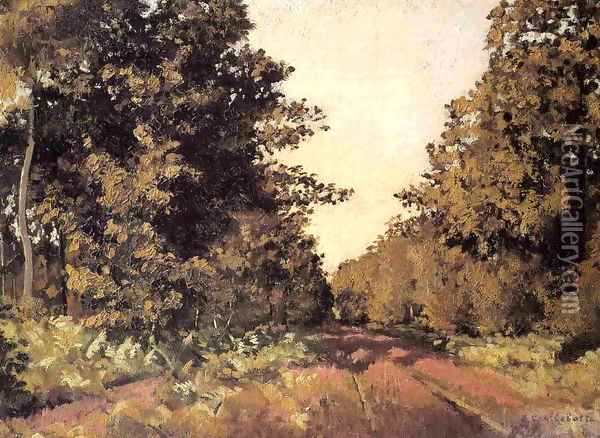 Yerres Woods At La Grange Path Of The Great Ha Ha Oil Painting - Gustave Caillebotte