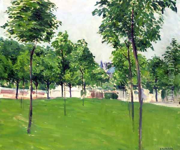 Promenade at Argenteuil Oil Painting - Gustave Caillebotte