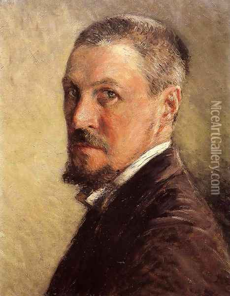 Self Portrait Oil Painting - Gustave Caillebotte