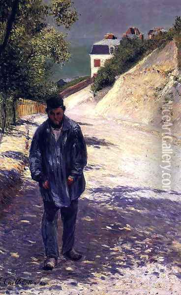 Claude Monet Walking, 1884 Oil Painting - Gustave Caillebotte