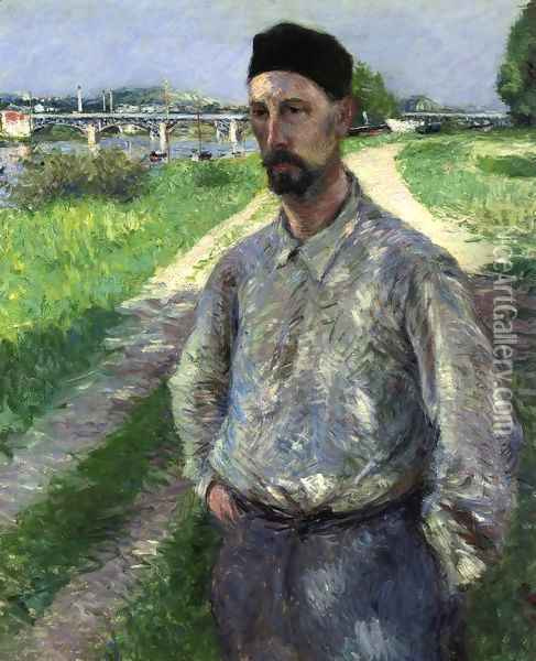 Portrait of Eugene Lamy Oil Painting - Gustave Caillebotte