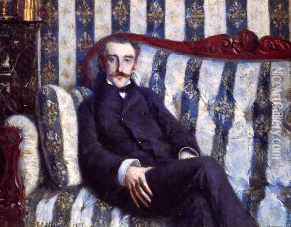 Portrait of a Man Oil Painting - Gustave Caillebotte
