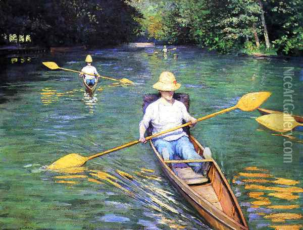 The Oarsmen 2 Oil Painting - Gustave Caillebotte