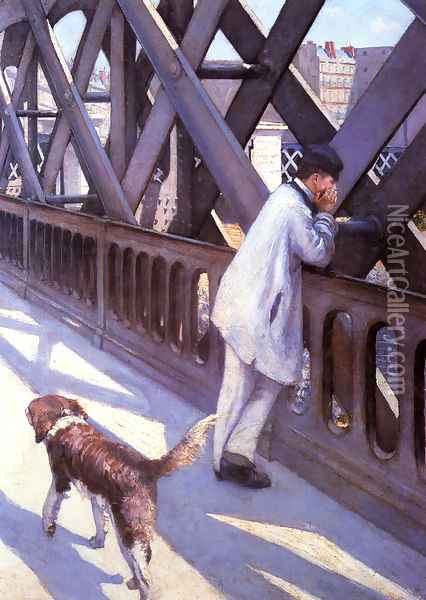 The Pont du Europe (detail) Oil Painting - Gustave Caillebotte