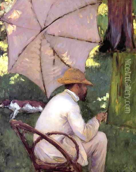 The Painter under His Parasol Oil Painting - Gustave Caillebotte