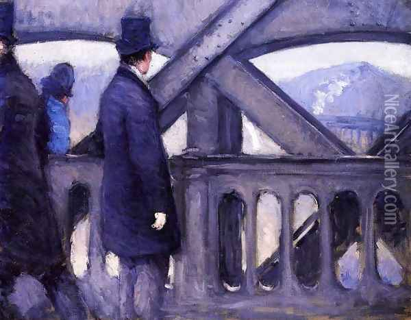 The Pont de Europe (study) Oil Painting - Gustave Caillebotte