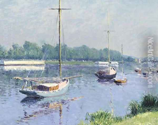 Le bassin d'Argenteuil Oil Painting - Gustave Caillebotte