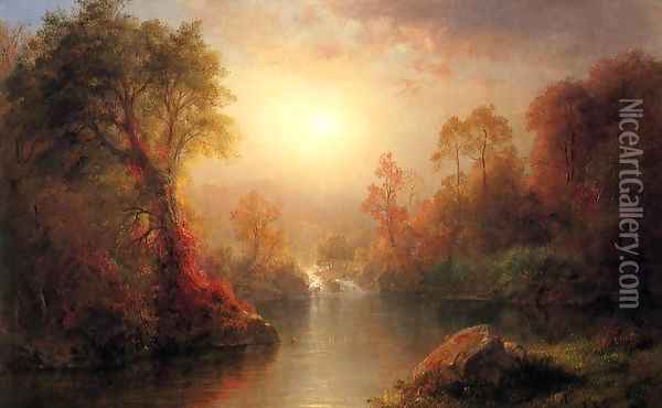 Autumn Oil Painting - Frederic Edwin Church