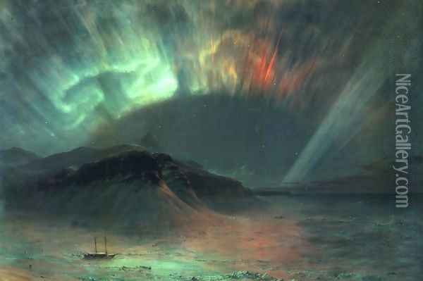 Aurora Borealis Oil Painting - Frederic Edwin Church
