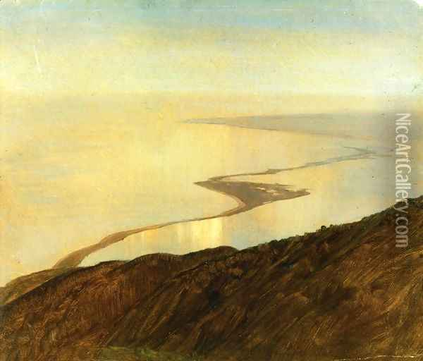 A Coast Line in Jamaica, West Indies Oil Painting - Frederic Edwin Church