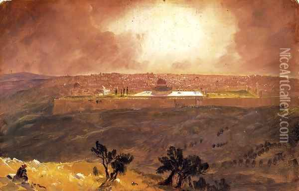 Jerusalem from the Mount of Olives I Oil Painting - Frederic Edwin Church