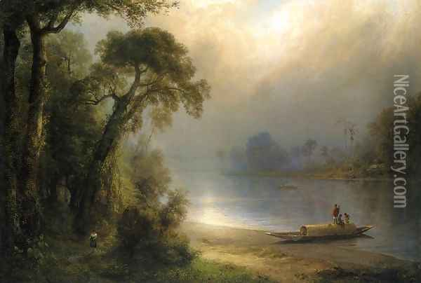 Evening in the Tropics Oil Painting - Frederic Edwin Church