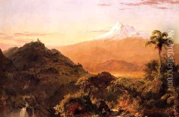 South American Landscape Oil Painting - Frederic Edwin Church