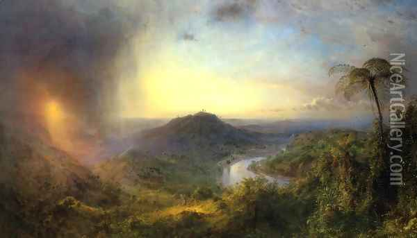 The Vale of St. Thomas, Jamaica Oil Painting - Frederic Edwin Church