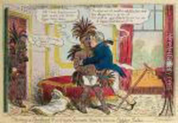 Tasting A Sandwich!!! Or, A High Flavor'd Relish, From The Copper Isles Oil Painting - I. Robert and George Cruikshank