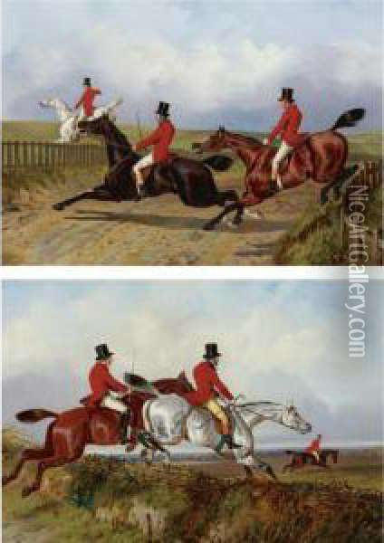 Clearing The Bank And Crossing The Road Oil Painting - John Dalby Of York