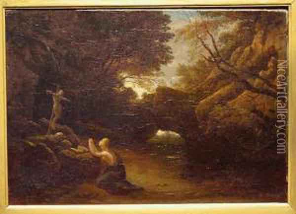 Magdalene In The Wilderness Oil Painting - Francis Danby