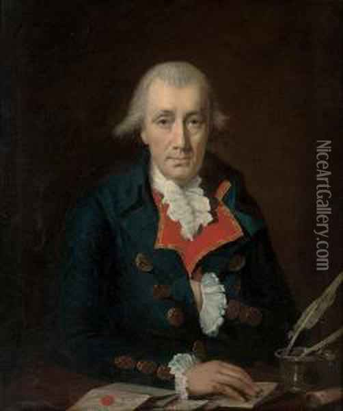 Portrait Of A Gentleman, Traditionally Identified As James Allen Oil Painting - Henri Pierre Danloux