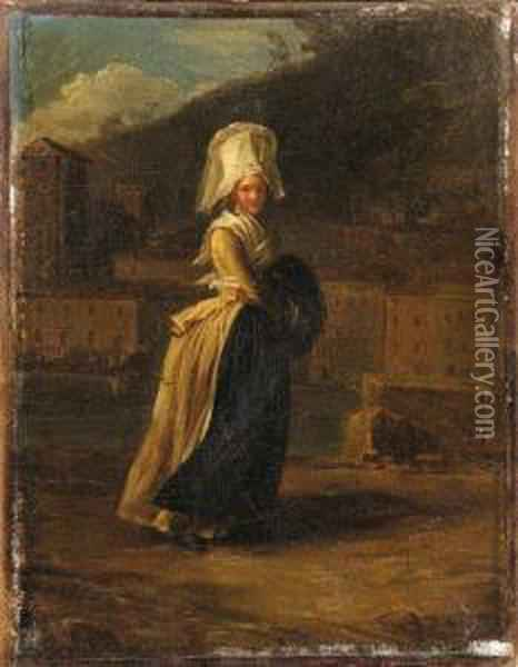 'la Coquette': A Lady Walking By