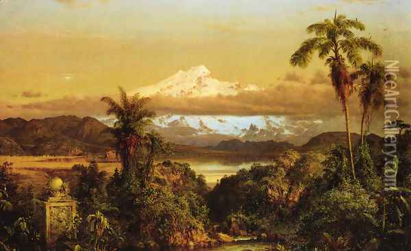 Cayambe, 1858 Oil Painting - Frederic Edwin Church