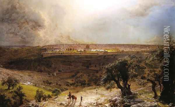 Jerusalem From The Mount Of Olives Oil Painting - Frederic Edwin Church