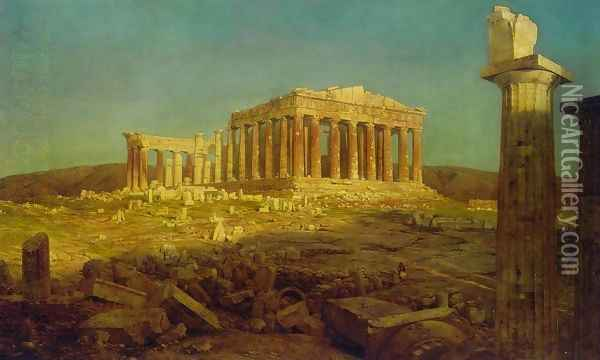 The Parthenon 2 Oil Painting - Frederic Edwin Church