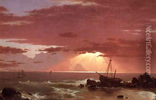 The Wreck Oil Painting - Frederic Edwin Church