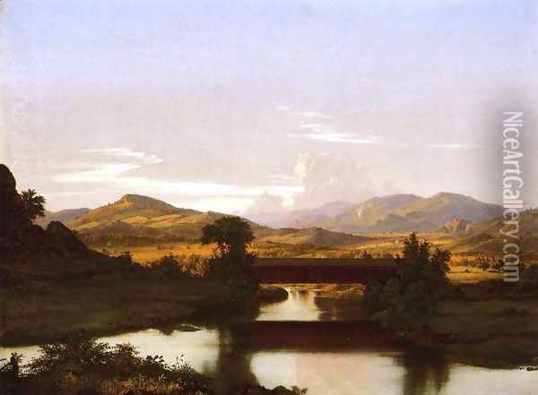 On Otter Creek Oil Painting - Frederic Edwin Church