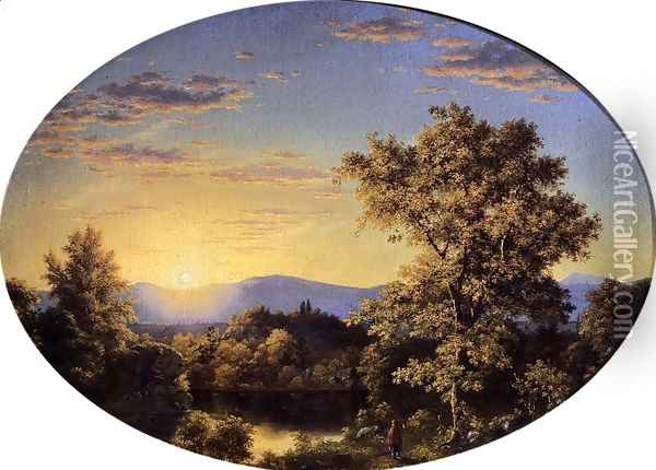 Twilight Among The Mountains Oil Painting - Frederic Edwin Church