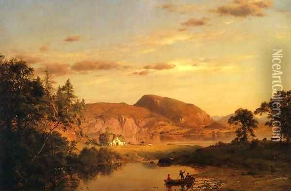 Home by the Lake Oil Painting - Frederic Edwin Church