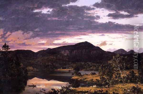 Lake Scene In Mount Desert Oil Painting - Frederic Edwin Church