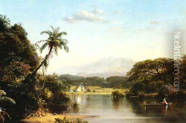 Scene On The Magdalena Oil Painting - Frederic Edwin Church