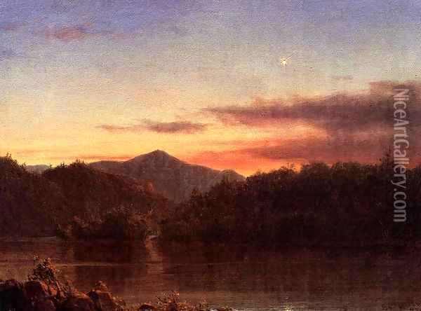 The Evening Star Oil Painting - Frederic Edwin Church