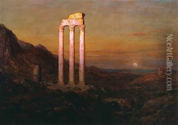 Moonrise I Oil Painting - Frederic Edwin Church