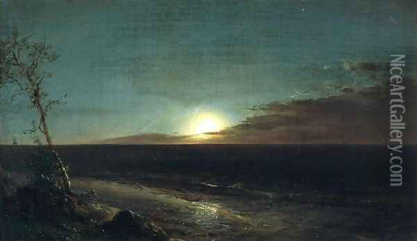 Moonrise Oil Painting - Frederic Edwin Church