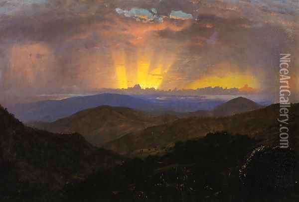 Sunset, Jamaica (study for