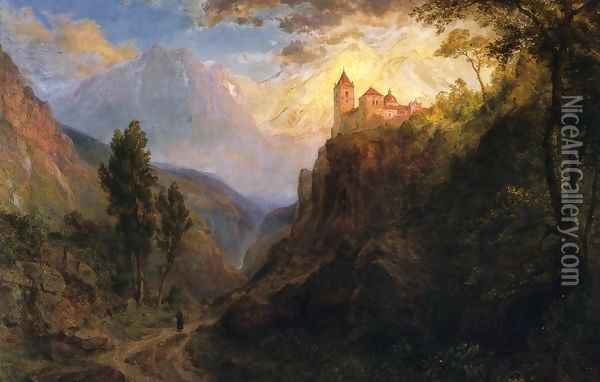 The Monastery of San Pedro Oil Painting - Frederic Edwin Church