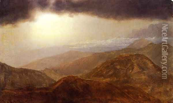 Storm in the Mountains I Oil Painting - Frederic Edwin Church