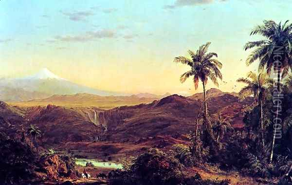Cotopaxi 4 Oil Painting - Frederic Edwin Church