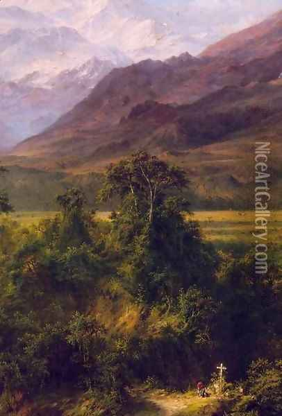 Heart of the Andes (detail) Oil Painting - Frederic Edwin Church