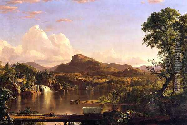 New England Scenery Oil Painting - Frederic Edwin Church