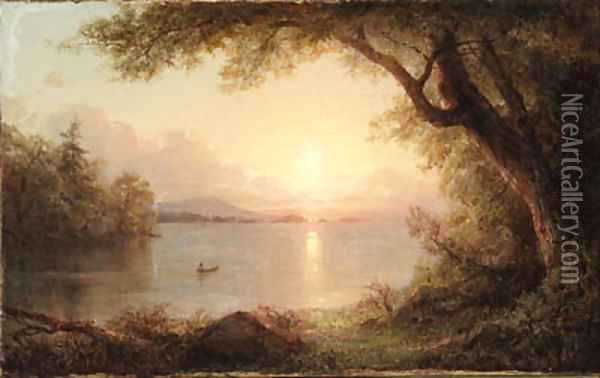 Untitled Oil Painting - Frederic Edwin Church