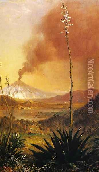 Title Unknown Oil Painting - Frederic Edwin Church
