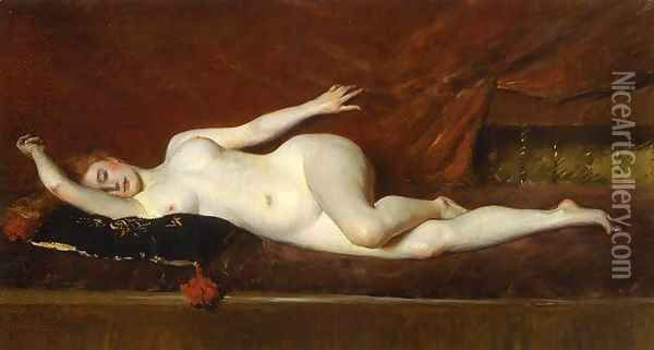 A Study In Curves Oil Painting - William Merritt Chase